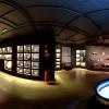 Instalações do MAI: acervo de cerâmica, bancos e máscaras