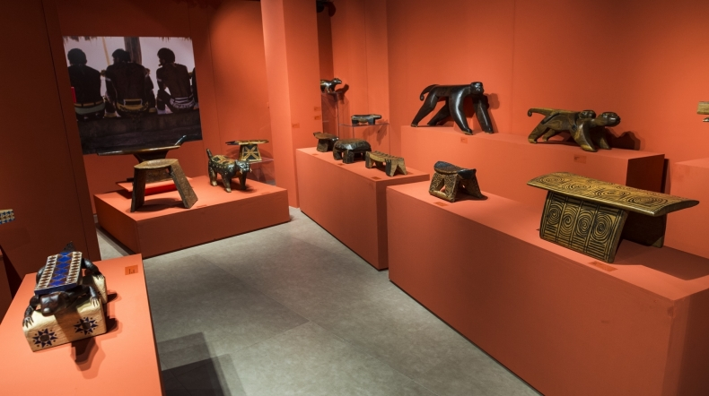 Fotos da exposição no Museu de Arte Indígena de Curitiba